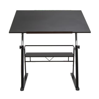 Offex Zenith Drafting Table - Black