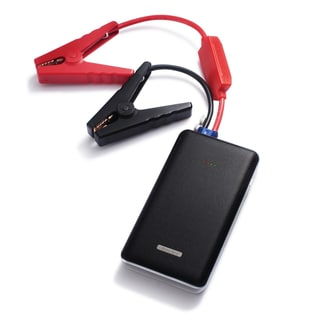 BasAcc 12000mAh Slim Multi-function Automotive Car Portable Jump Starter Power Bank Charger with Battery Clamp and Cable