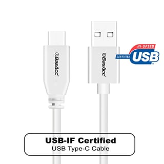 BasAcc 3.3-foot Reversible USB 2.0 Type-C Male to USB Type-A Male Data Transfer Sync Cable