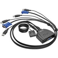 Tripp Lite 2-Port USB/VGA Cable KVM Switch with Cables and USB Periph