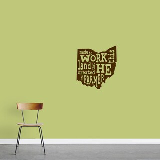 The Farmer Ohio Wall Decal - 16.5-in wide x 18-in tall
