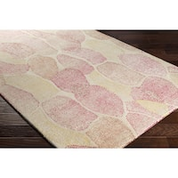 Palm Canyon Rose Hand-tufted Wool Area Rug - 4' x 6'