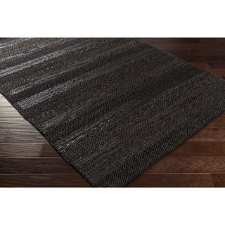 Hand-Woven Perthios Leather Rug (5' x 7'6)