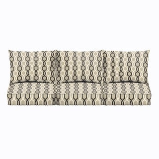 Sloane Black and Tan Indoor/ Outdoor Cushion and Pillow Sofa Set