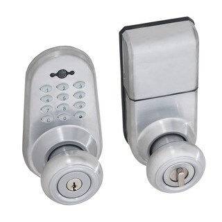 Honeywell Digital Door Lock Entry Knob with Remote in Satin Chrome