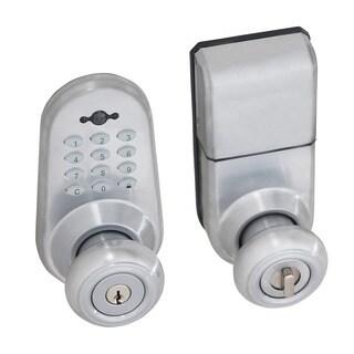 Honeywell Digital Door Lock Entry Knob with Remote in Satin Chrome