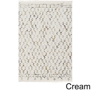 The Curated Nomad Duncan Hand-woven Wool Area Rug (5 x 76 - Cream)