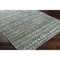 "Hand-Tufted Brunia Wool Area Rug - 5' x 7'6"""