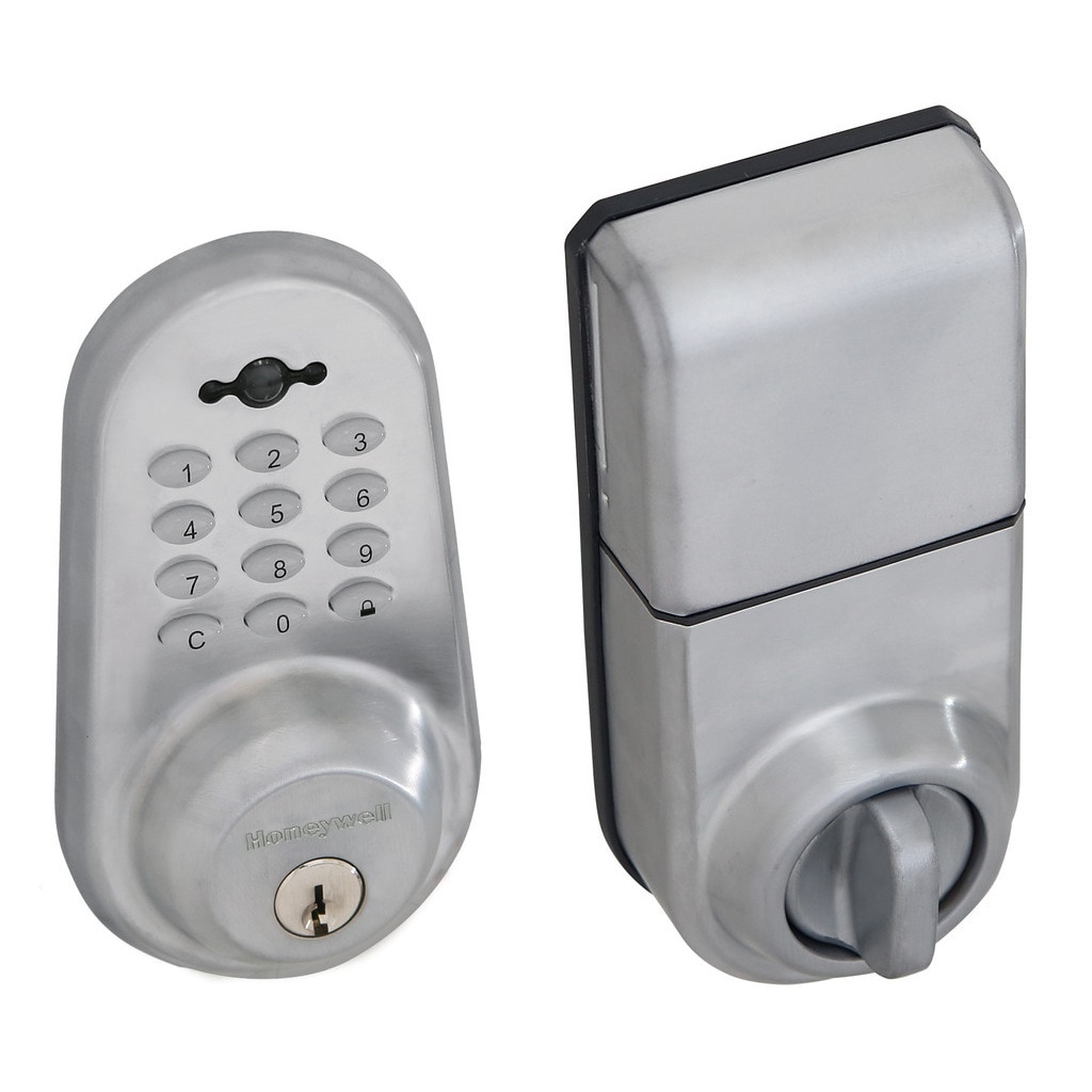 Honeywell Digital Lock and Deadbolt with Remote in Satin ...