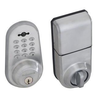 Honeywell Digital Lock and Deadbolt with Remote in Satin Chrome