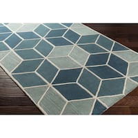 Hand-Tufted Jingu Wool Area Rug - 5' x 8'