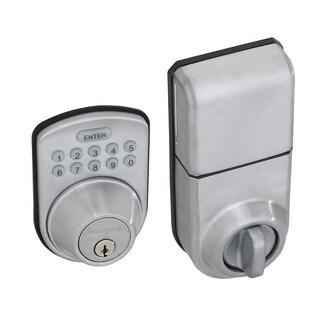 Honeywell Digital Lock and Deadbolt in Satin Chrome