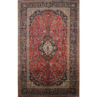 Hand Knotted Vintage Persian Kashan Rug (6'7 x 10'7)