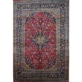 Hand-knotted Authentic Persian Kashan Rug (6'6 x 9'8)