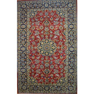 Hand-knotted Authentic Persian Najafabad Rug (6'5 x 9'11)