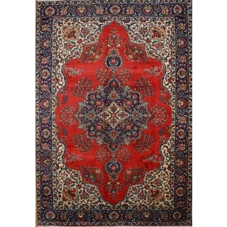 Hand-knotted Authentic Persian Tabriz Rug (6'8 x 9'8)