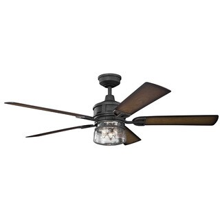 Kichler Lighting Lyndon Patio Collection 60-inch Distressed Black Ceiling Fan w/Light|https://ak1.ostkcdn.com/images/products/14274174/P20860020.jpg?_ostk_perf_=percv&impolicy=medium