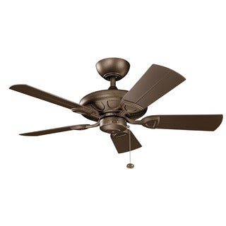 Kichler Lighting Kevlar Collection 42-inch Weathered Copper Powder Coat Ceiling Fan