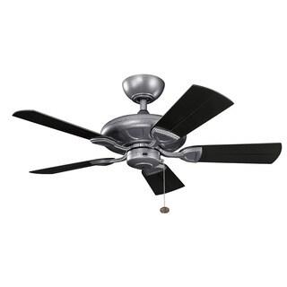Kichler Lighting Kevlar Collection 42-inch Weathered Steel Powder Coat Ceiling Fan