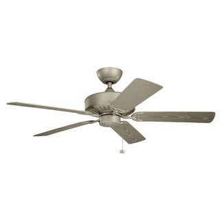 Kichler Lighting Enduro Collection 52-inch Antique Satin Silver Ceiling Fan