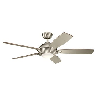 Kichler Lighting Geno Collection 54-inch Brushed Stainless Steel LED Ceiling Fan