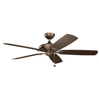 Kichler Lighting Kevlar Collection 60-inch Weathered Copper Powder Coat Ceiling Fan