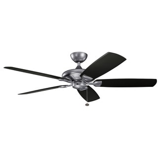 Kichler Lighting Kevlar Collection 60-inch Weathered Steel Powder Coat Ceiling Fan