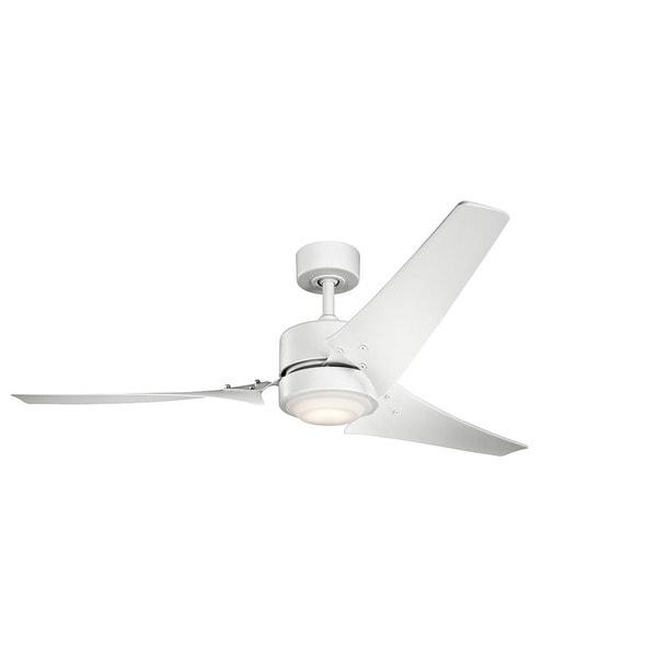Kichler Lighting Rana Collection 60 Inch Matte White Led Ceiling Fan