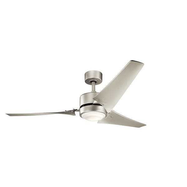 Kichler Lighting Rana Collection 60 Inch Brushed Nickel Led Ceiling Fan Overstock 14274194