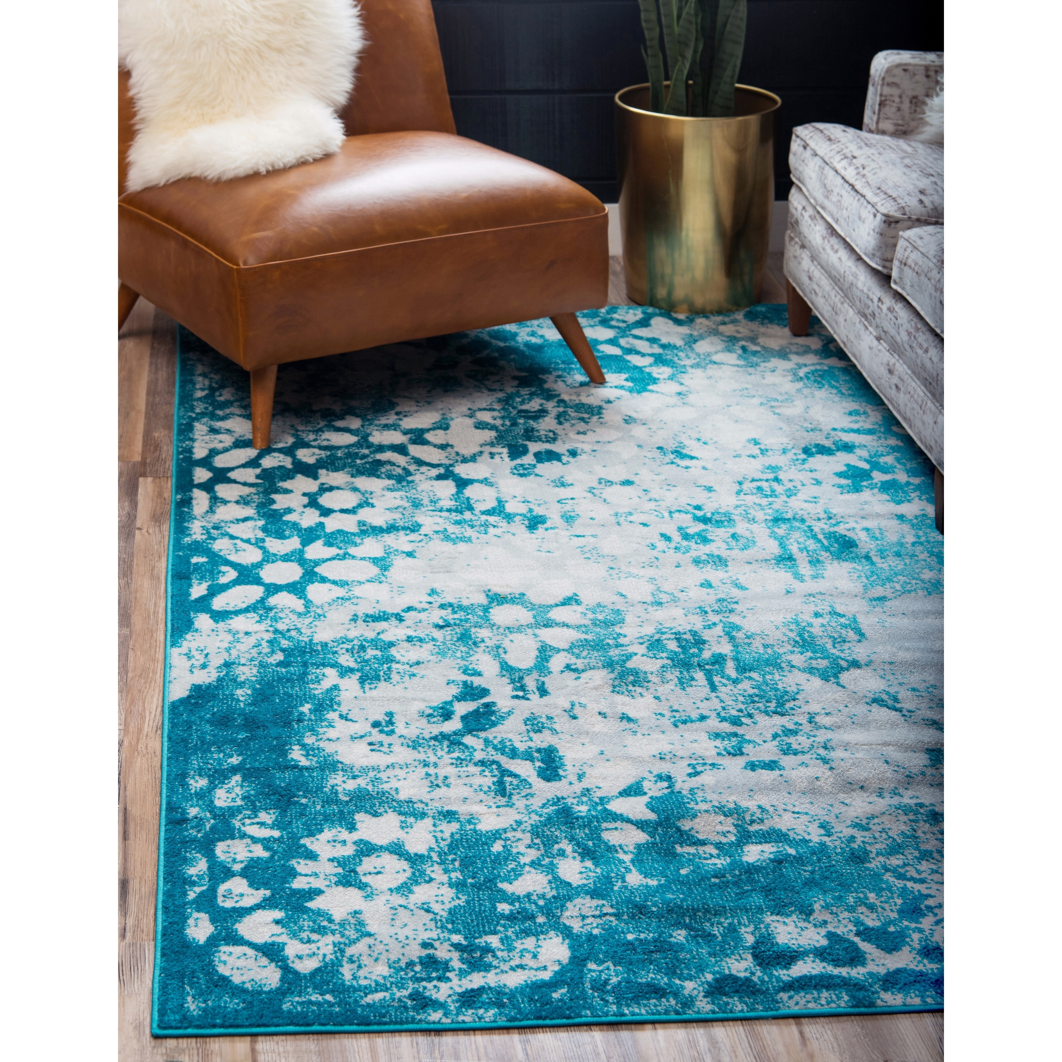Buy Teal 5x8 - 6x9 Rugs Sale Online at Overstock.com | Our Best Area ...