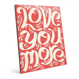 'Love You More on Red' Acrylic Wall Art (More options available)