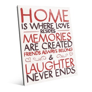 'Home is Where Love Resides' Wall Art on Acrylic (More options available)