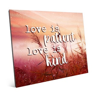 'Love is Patient, Kind - Meadow' Wall Art on Acrylic