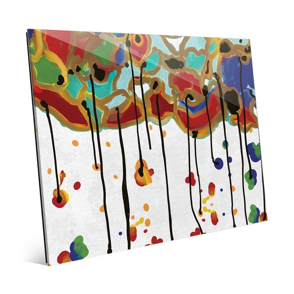 'Melting Colorful Trees' Acrylic Wall Art