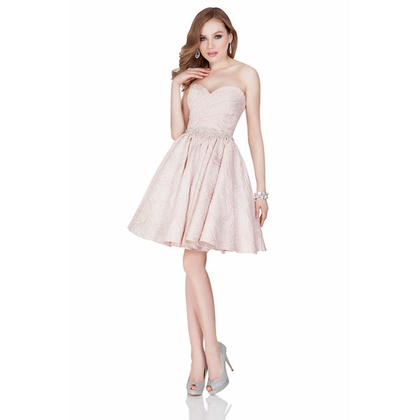 af89f2cc63e Shop Terani Couture Women s Pink Strapless Short Sweetheart Cocktail Dress  - Free Shipping Today - Overstock - 14274823
