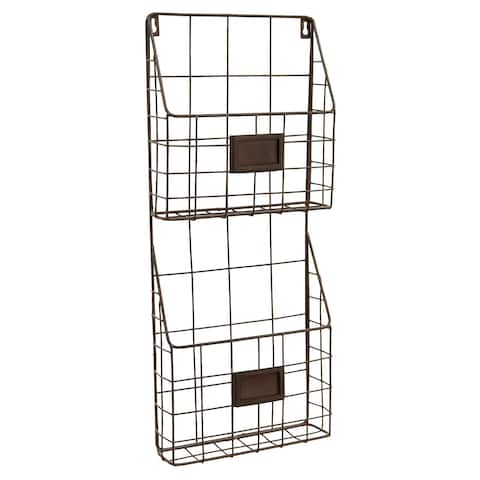 "Benzara 10721 23.75"" Metal Wall Rack"