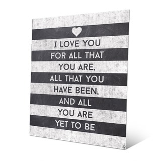 'I Love All That You Are' Striped Metal Wall Art