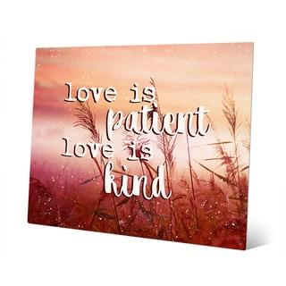 'Love is Patient, Kind on Meadow' Wall Art on Metal