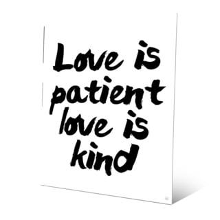 'Love is Patient, Kind' Wall Art Print on Metal