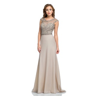 Terani Couture Cap Sleeve Long Special Occasion Dress