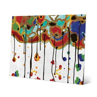 'Melting Colorful Trees' Wall Art Print on Metal