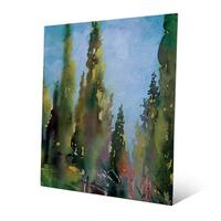 'Watercolor Trees' Wall Art Print on Metal