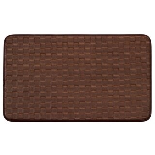 "Chef Gear Faux-Leather Basket Weave 18 x 30 in. Comfort Chef Mat - 1'5"" x 2'5"""