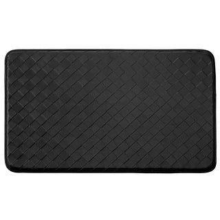 "Chef Gear Faux-Leather Diamond Weave Comfort Chef Mat (1'5"" x 2'5"")"