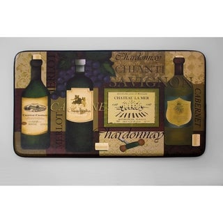 """Chef Gear Favorite Wine Faux Leather Anti-Fatigue Cushioned Chef Mat (1'5"""" x 2'5"""")"""