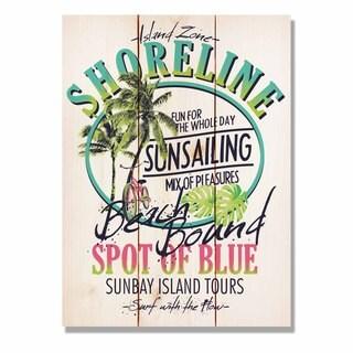 Shoreline Beach Bound 11x15 Indoor/Outdoor Full Color Cedar Wall Art