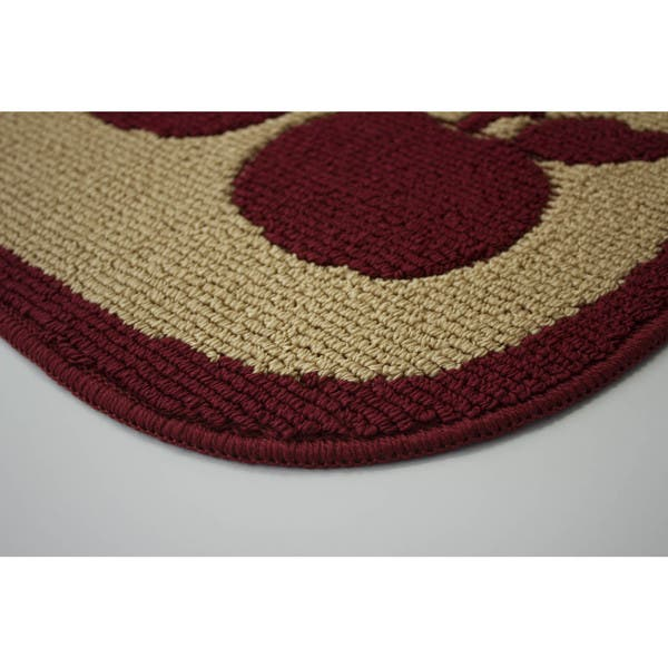 Structures Brown Olefin Wedge Shaped Apple Turnover Kitchen Rug Apple Turnover 1 5 X 2 5 Overstock 14274941
