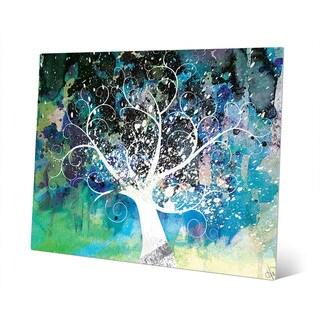 'Mottled Cerulean Willow' Wall Art Print on Metal