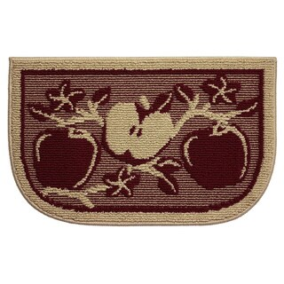Structures Apple Orchard Olefin Textured Loop Wedge-shaped Slice Kitchen Rug (18 inches x 30 inches)