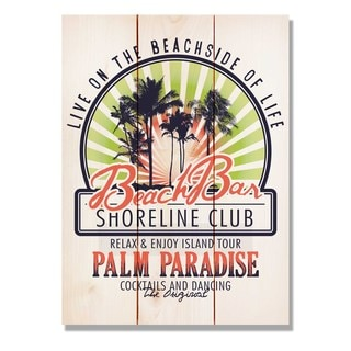 Beach Bar Club 11x15 Indoor/Outdoor Full Color Cedar Wall Art